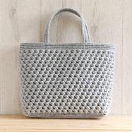 ネット編みつけの大きめバッグ